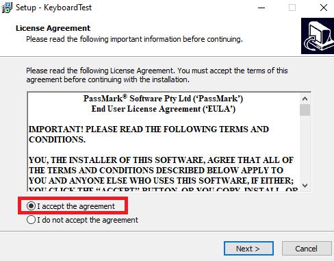 cài đặt phần mềm keyboard test