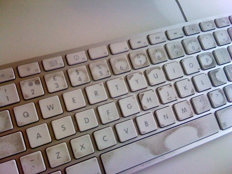 Qua thời gian sử dụng lâu dài nên bàn phím không còn nhạy